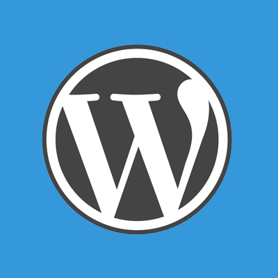 Wordpress Logo Blau